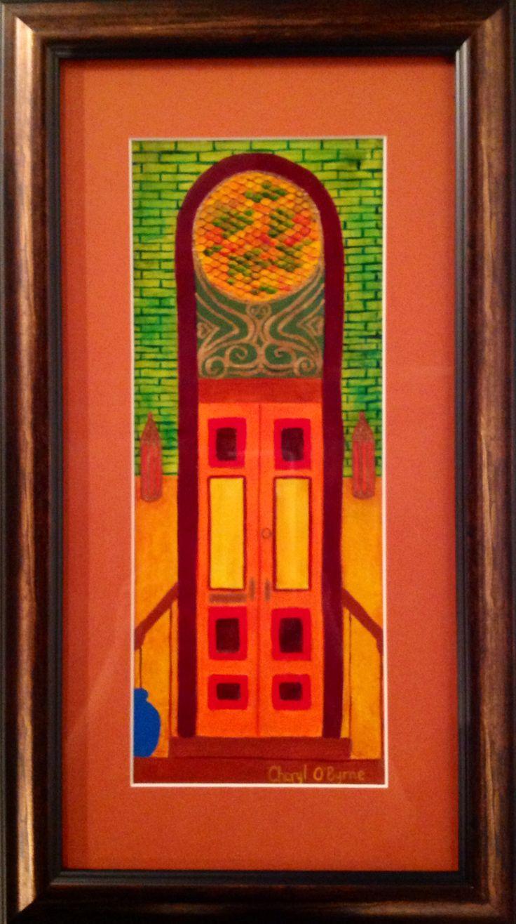 Cheryl O'Byrne invites us into 'Moroccan Door - Orange'