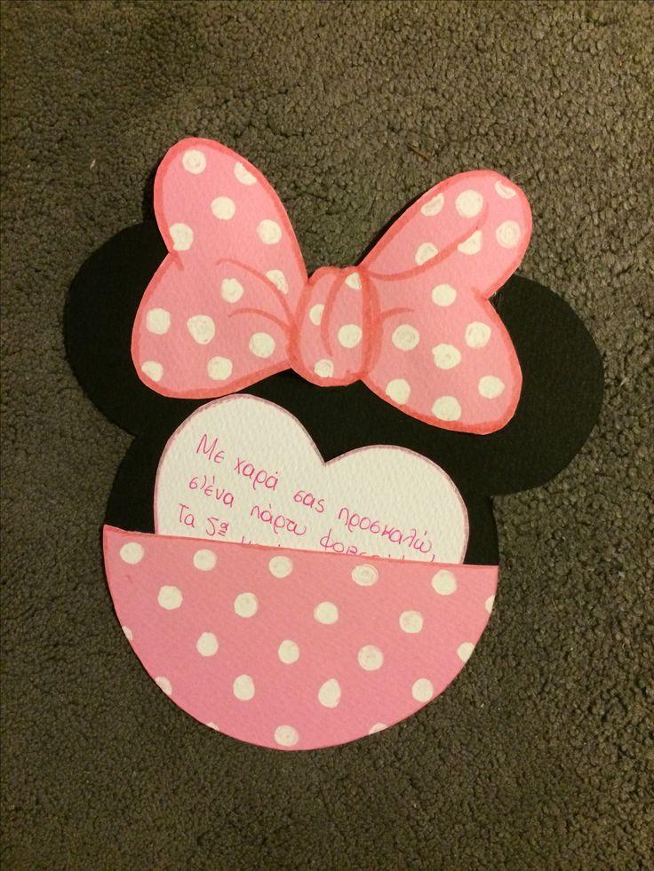 Minnie Mouse handmade invitation