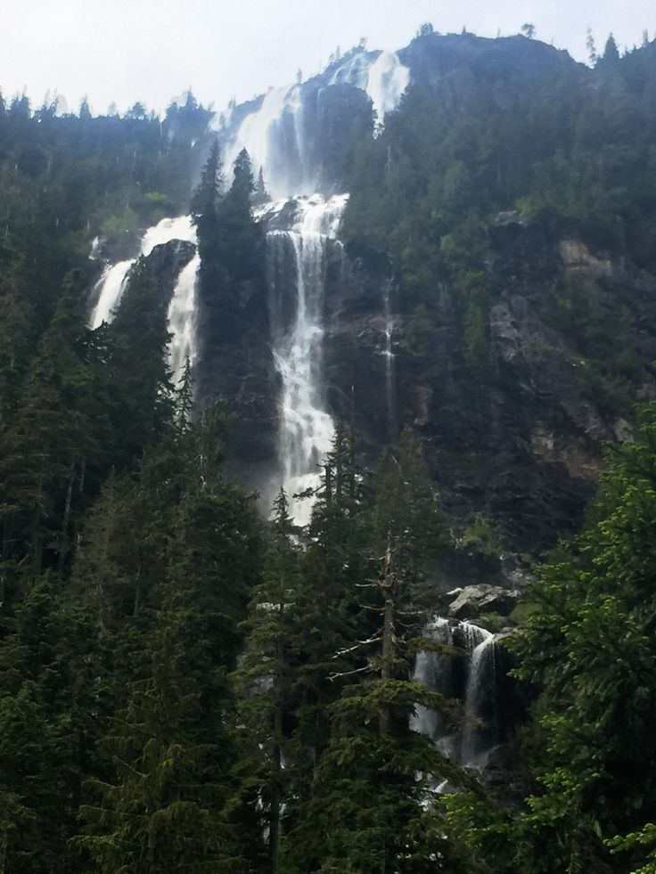 Della Falls on Vancouver Island. Arguably the tallest waterfall in Canada. #hiking #camping #outdoors #nature #travel #backpacking #adventure #marmot #outdoor #mountains #photography