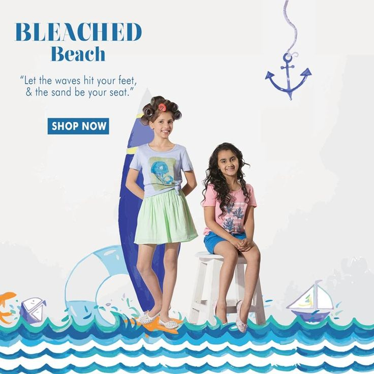 """Let the waves hit your feet, & the sand hit your seat."" Try out these cool and happening SbuyS latest trends for your colorful Spring summer'16 . Shop for the latest trends at affordable prices @ http://www.sbuys.in #sbuys #kidswear #styledivas #latesttrends #fashionistas #newcollection #elegant #urbanstylewear #springseason #colors"