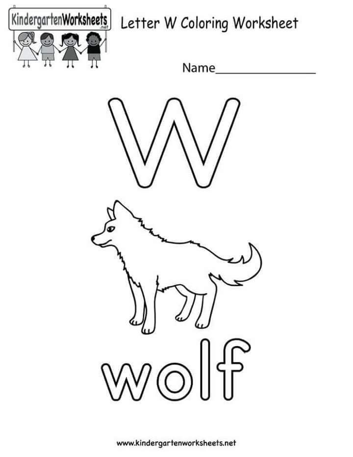 Letter W English Worksheets For Kids Free Printable Alphabet Worksheets Alphabet Worksheets Kindergarten