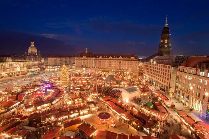 Mercadillo navideño de Dresde, Alemania.