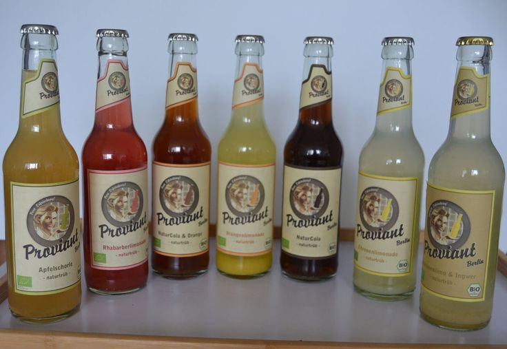 7 Flaschen Proviant Berlin Limonadenprobier Set in 7 Geschmacksrichtungen