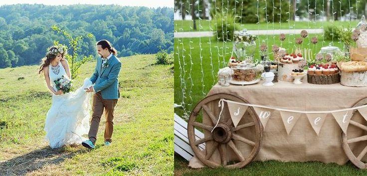 Стиль рустик в оформлении свадьбы Как оформить свадьбу в стиле Рустик - свадебное оформление зала, платье и букет невесты, а также дресс-код гостей на свадьбе