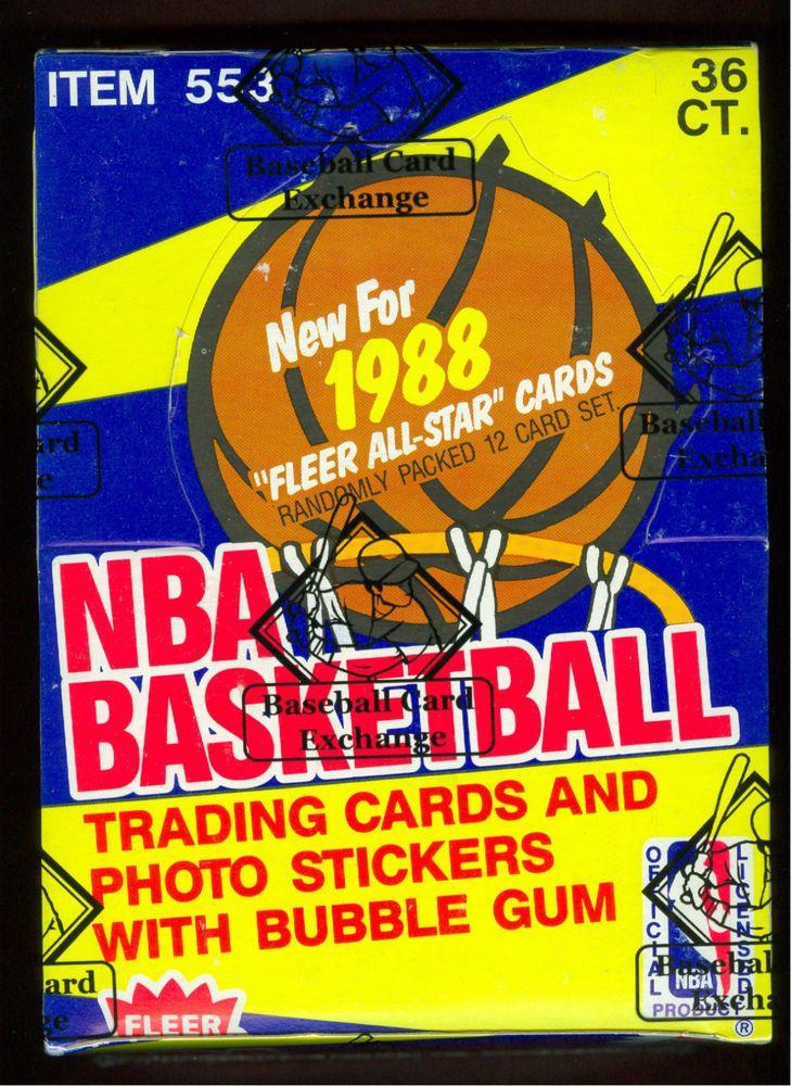 1988 fleer basketball wax packs 4 from bbce