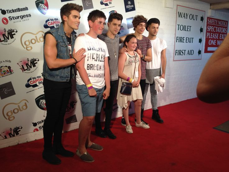 Union J proved as always extremely popular but gave time out for fans back stage at the Leicester Music Festival
