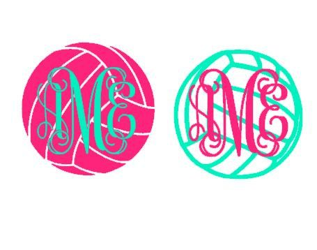 This Volleyball Monogram Letter Template Is An Instant