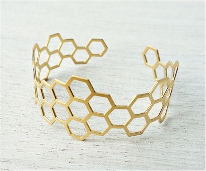 Shlomit Ofir - geometric cuff Bracelet