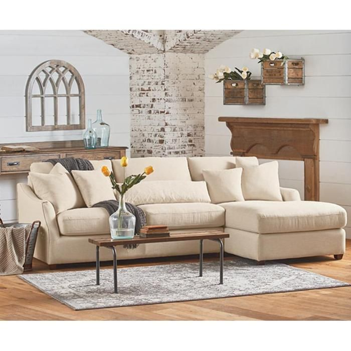 Homestead Sofa Chaise | Magnolia Homes @ Nebraska Furniture Mart