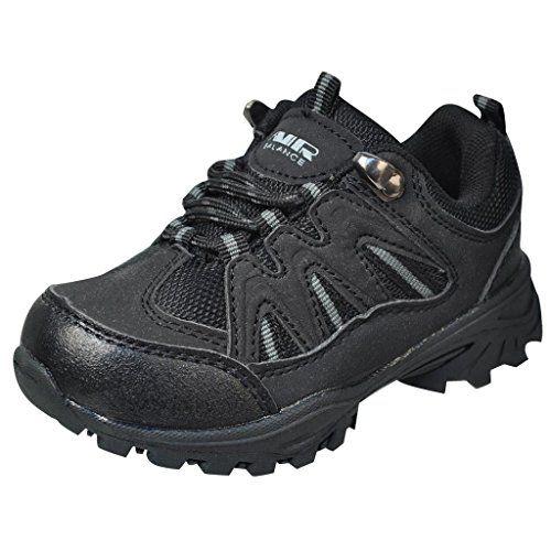 wow Air Balance Little Boys Hiking Boots - Black/Grey