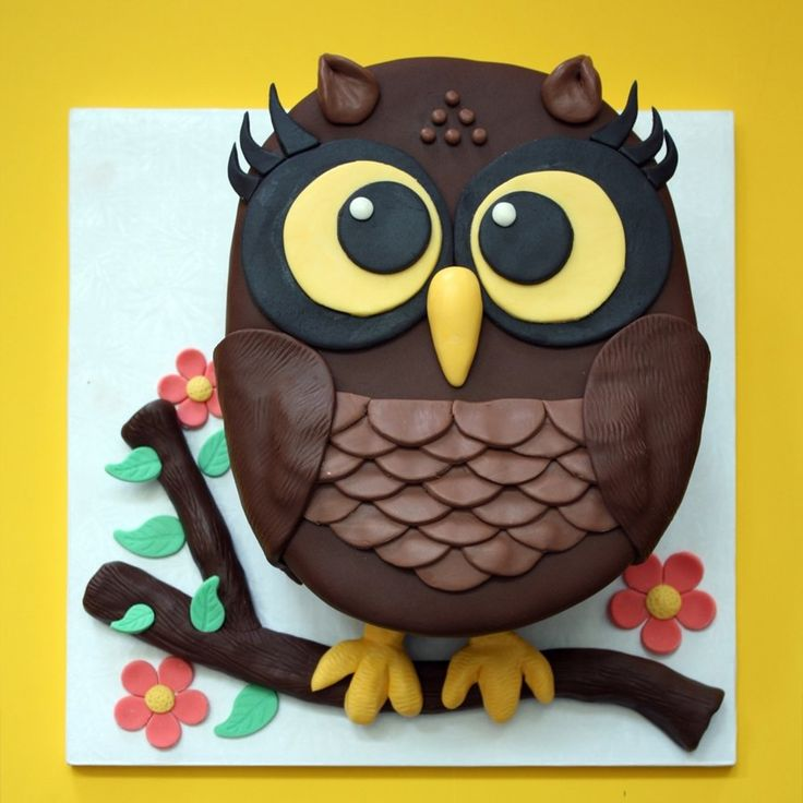 Huggable Owl Cake I was very attached to this cake but the birthday girl is as sweet as this cake could ever be, so it was all worth it to...