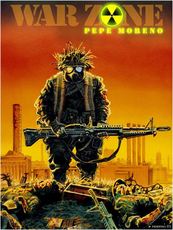 War Zone Graphic Novel by pepe moreno (digital remake)