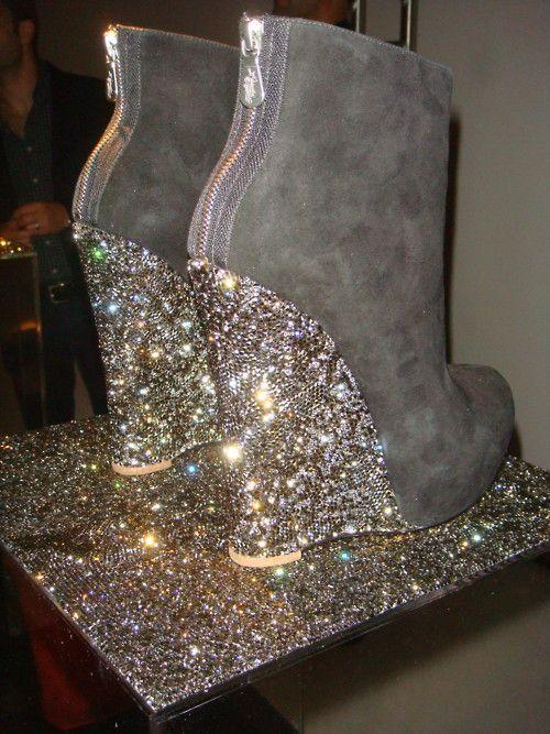 Alejandro Ingelmo Crystal Wedge Boots