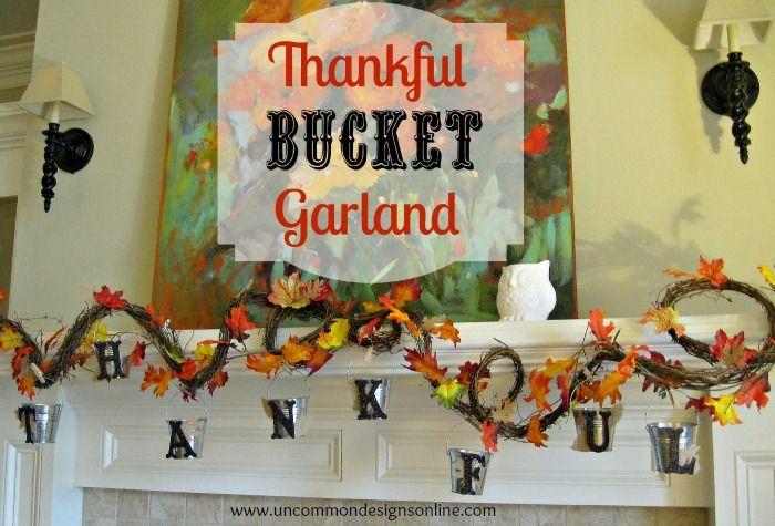 Thankful Bucket Garland