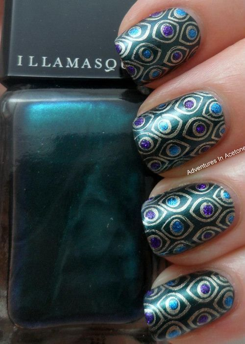 Adventures in Acetone (peacock,nail designs)