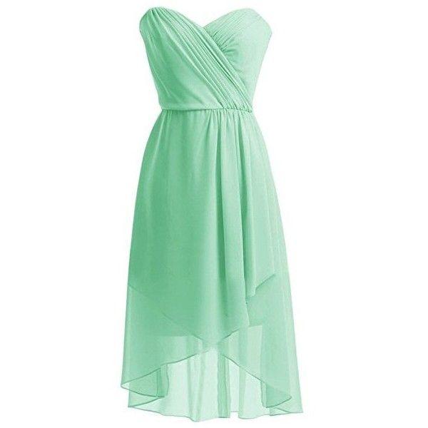 Seafoam green dress polyvore summer
