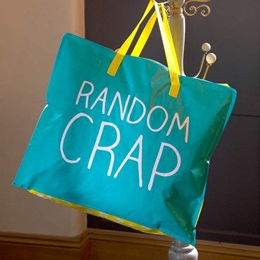 Random Crap Large Storage Bag 4746SCX Random Crap Large Storage BagFunky, fun and brightly coloured, this extra large storage bag is the perfect place to store all the Random Crap, you just cant bear to throw away!With bright yellow and w http://www.MightGet.com/january-2017-13/random-crap-large-storage-bag-4746scx.asp