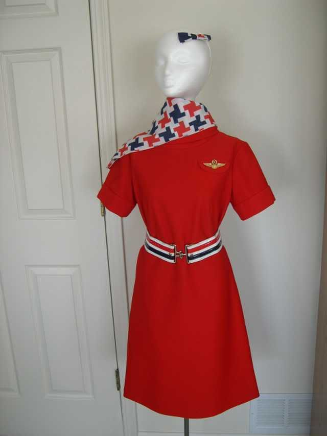 1969 American Airlines Stewardess Uniform