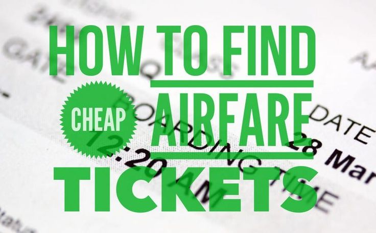 find cheap airfare tickets