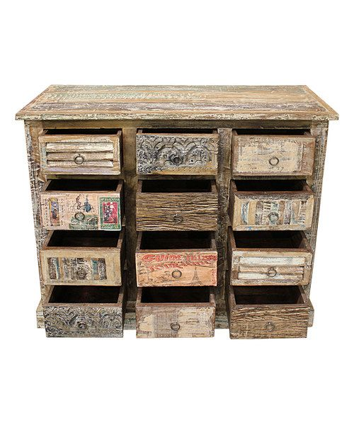 Look At This Reclaimed Wood Vintage Appliqué Cabinet On #zulily Today!