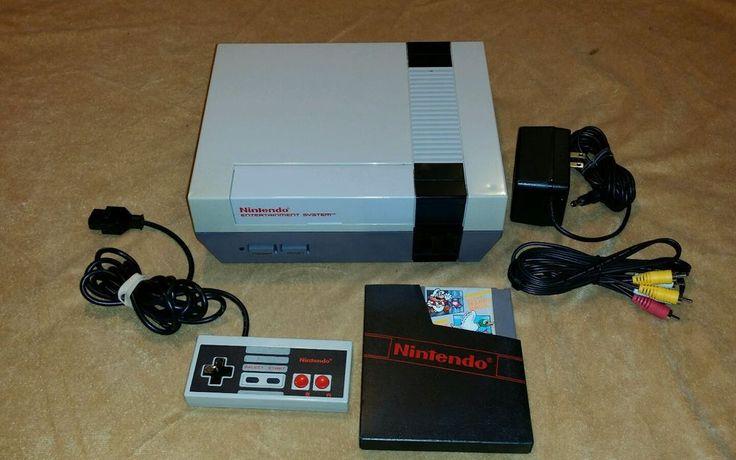 Nintendo NES System Console W/ Super Mario Bros / Duck Hunt / Track *New 72 Pin* #Nintendo