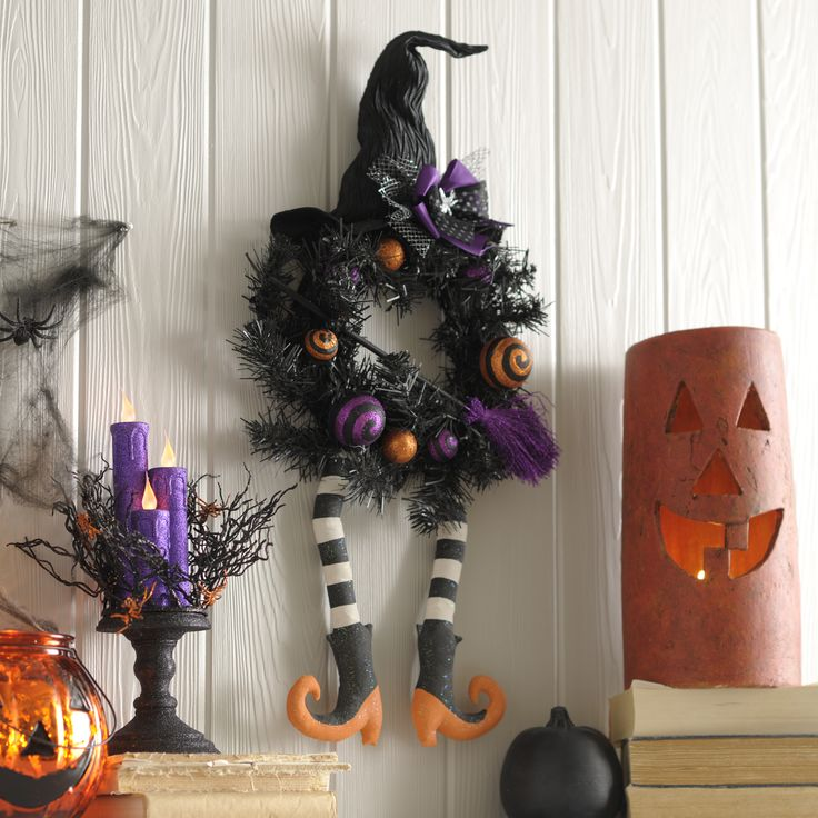 add a touch of magic to your home this halloween our glittery witch sisal wreath