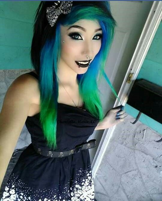 Chantelle marie blue and green hair