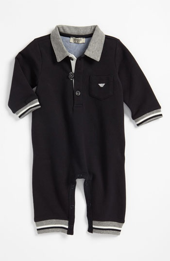 Armani Junior Romper (Infant) available at #Nordstrom