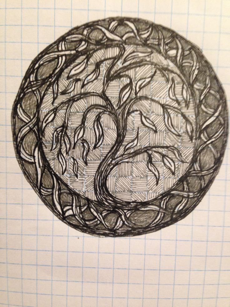 Celtic tree of life sketch