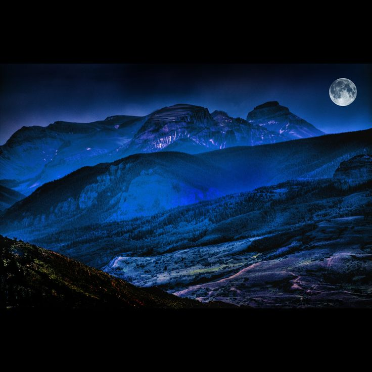 moon  (rePinned 081813TLK)  remarkable the amount of light being cast on the mountain scape...