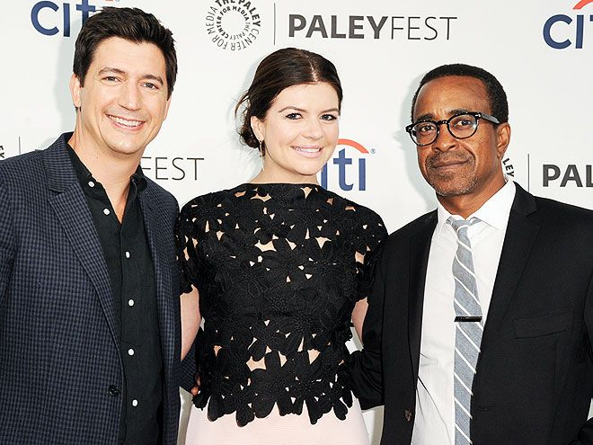 Star Tracks: Thursday, September 11, 2014 | MARITAL BLISS | Casey Wilson is flanked by costars Ken Marino and Tim Meadows on Wednesday while talking up their TV show, Marry Me (which is written by Wilson's new husband David Caspe), at PaleyFest in Beverly Hills.