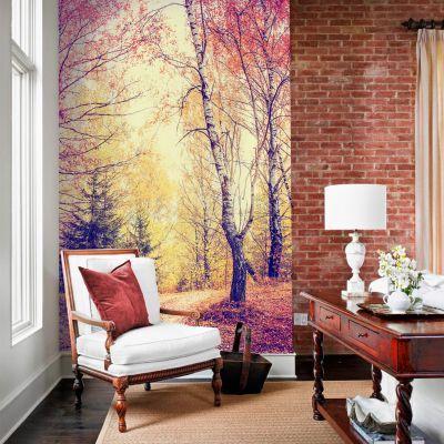 Fototapetul personalizat  Vis de toamna este perfect pentru a decora integral un perete din casa ta sau dintr-un alt spatiu: bar, restaurant, hotel, birou s.a.