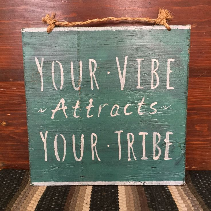 Your Vibe Attracts Your Tribe Sign / Yoga Decor / Bohemian Decor / Hippie Decor - Turquoise by HollyWoodTwine on Etsy