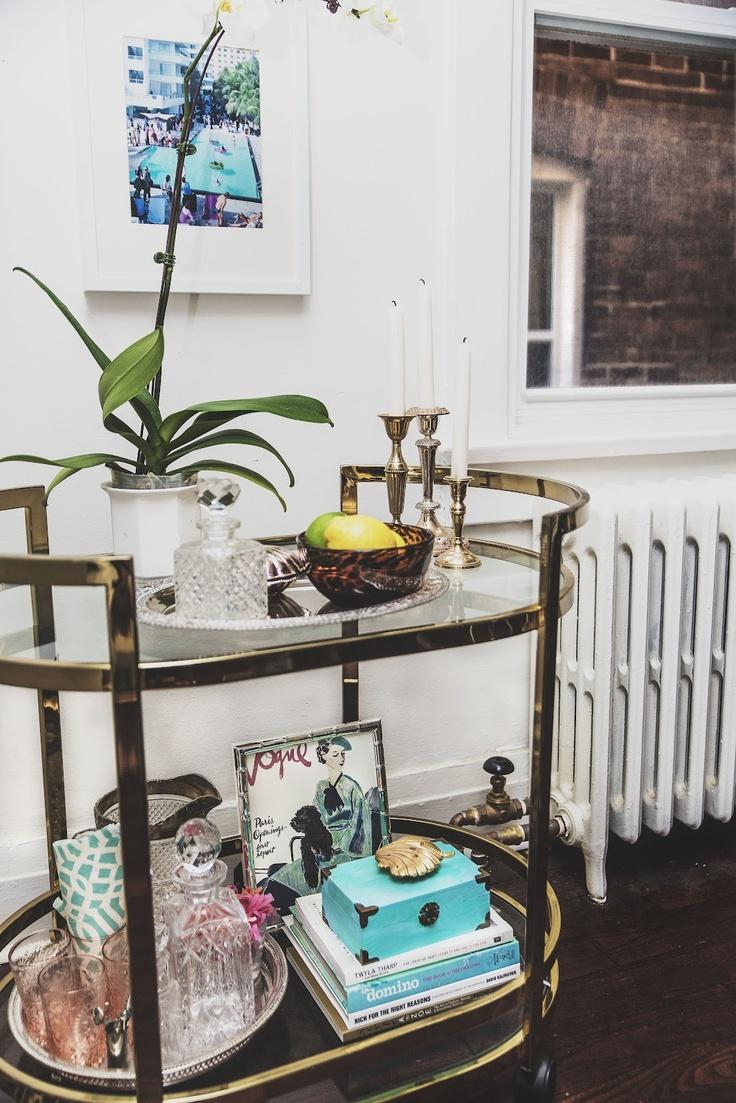 best 20 brass bar cart ideas on pinterest bar cart. Black Bedroom Furniture Sets. Home Design Ideas