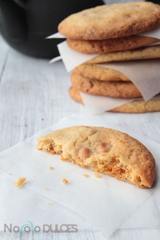 cookies de chocolate con chips de toffee