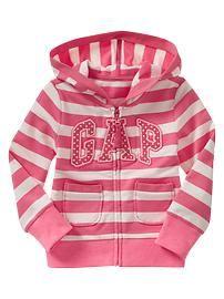 Striped arch logo hoodie