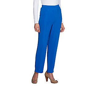 Susan Graver Lustra Knit Petite Pull-on Ankle Pants