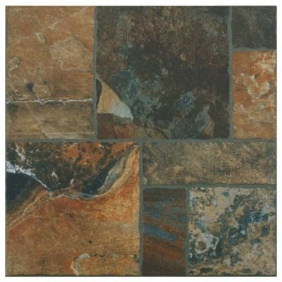 Merola Tile Sunset Red 13-1/2 in. x 13-1/2 in. Porcelain Floor and Wall Tile (14 sq. ft. / case)-FRN13SSR at The Home Depot