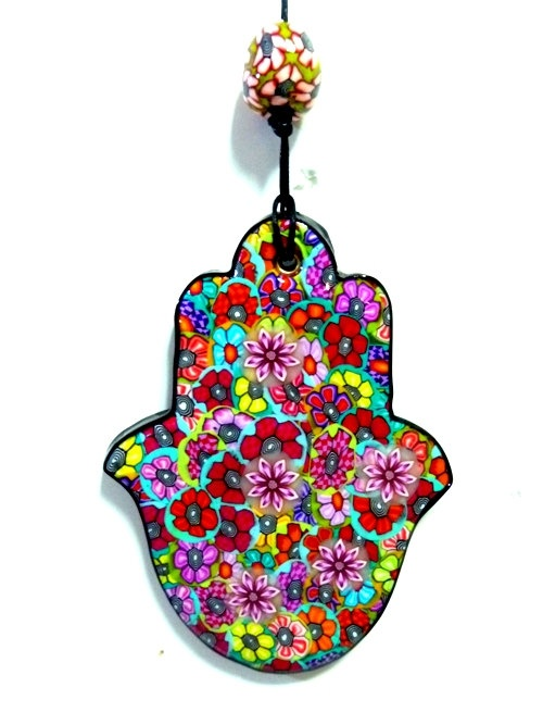 Polymer clay Hamsa wall decor Hamsa unique Hamsa in by MIRAKRIS, $18.00