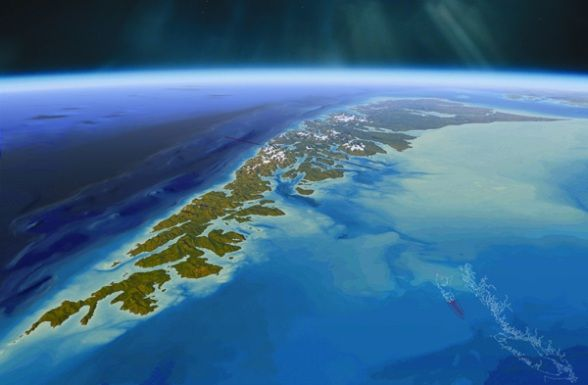 The Haida Gwaii Archipelago-----formerly the Queen Charlotte Islands, BC