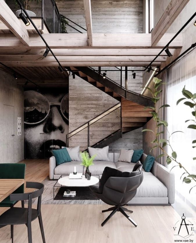 Minimal Interior Design Inspiration 177 In 2020 Loft Design Industrial Home Design Industrial Interior Design