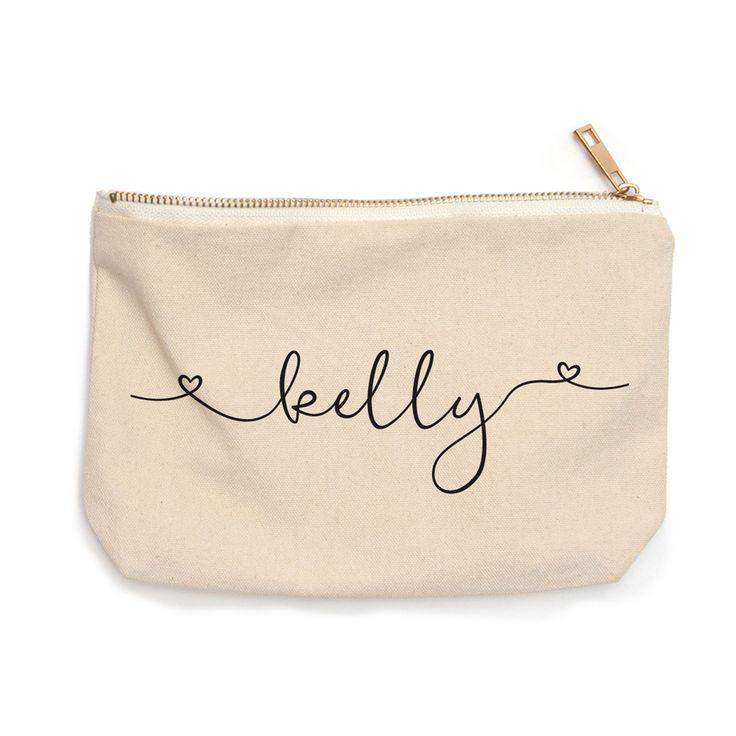 bridesmaid cosmetic bag   bridesmaid gifts   personalized makeup bag   custom makeup bag