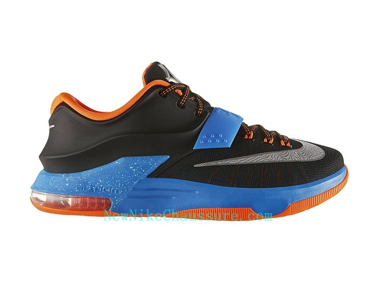 Nike KD 7 Away - Chaussure De Basket-ball pour Homme Pas Cher Noir Bleu