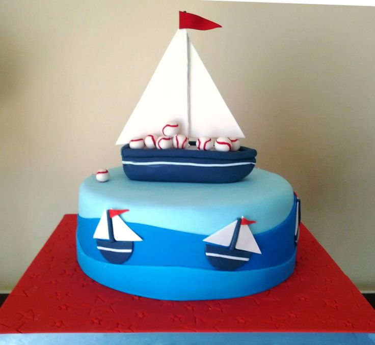Best Baby Shower Cakes Images On Pinterest Boy Baby Showers - Boat birthday cake ideas