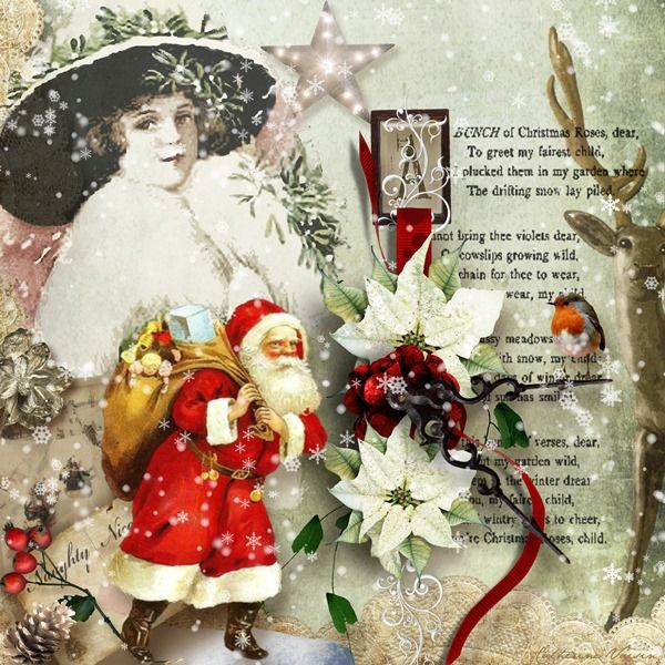 """NEW kit """"Once Upon a Christmas"""" by G&T in E-ScapeandScrap 18/10/2013"""