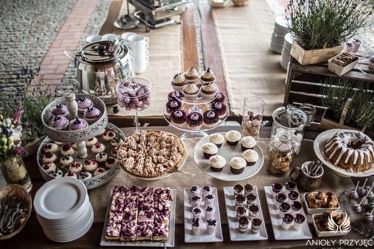 6. Lavender Wedding,Sweets,Sweet table decor,Rustic decor / Wesele lawendowe,Dekoracje słodkiego stołu,Rustykalne dekoracje,Anioły Przyjęć