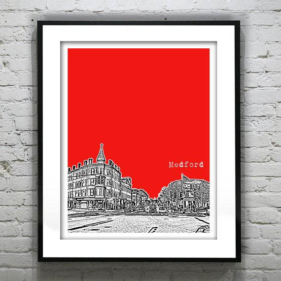 Hey, I found this really awesome Etsy listing at https://www.etsy.com/listing/179400074/medford-massachusetts-skyline-poster-art