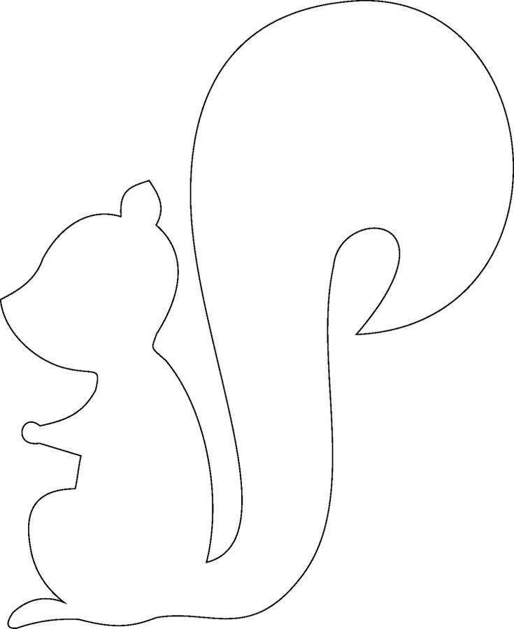 Vorlage zum Ausdrucken und Ausmalen - abstrakte Eichhörnchen