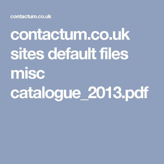 contactum.co.uk sites default files misc catalogue_2013.pdf