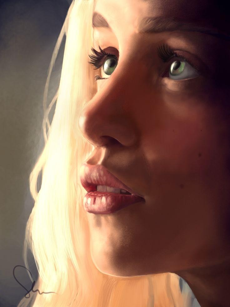 Daeneris Game Of Thrones, digital portret.